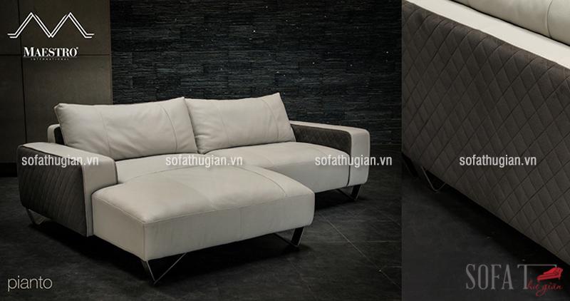 Ghế sofa da cao cấp chất liệu da bò nhập Malaysia êm ái, sang trọng