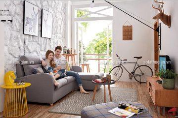 Các không gian phòng khách bố trí được bộ sofa góc?