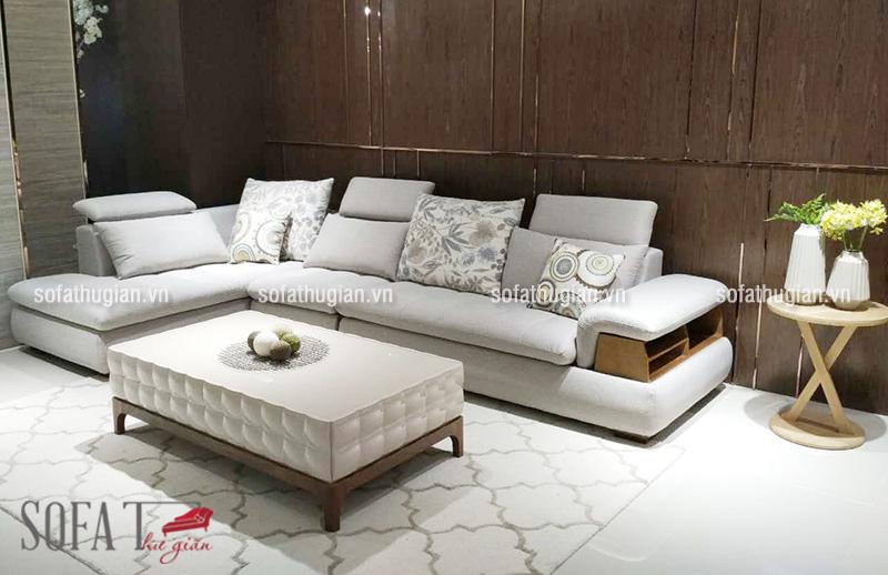 Mẫu sofa đẹp kiểu dáng tân cổ điển Châu Âu ít họa tiết rườm rà mang đến một không gian phòng khách tinh tế, sang trọng