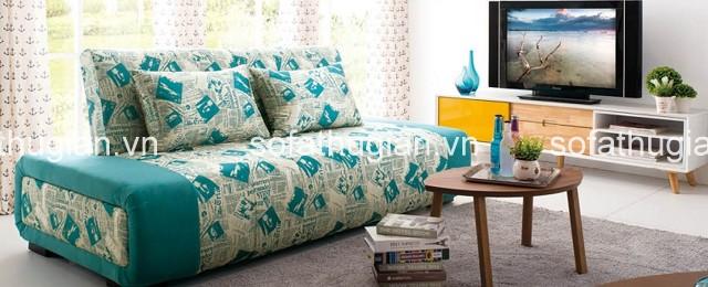 các mẫu ghế sofa giường bọc vải đang chiếm ưu thế hơn hẳn so với các chất liệu khác
